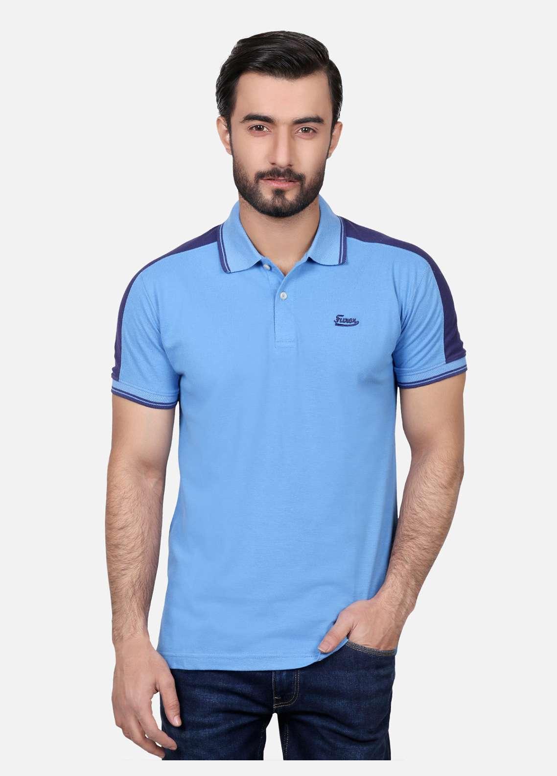 Furor Cotton Polo Men T-Shirts - Blue FRM18PS 023