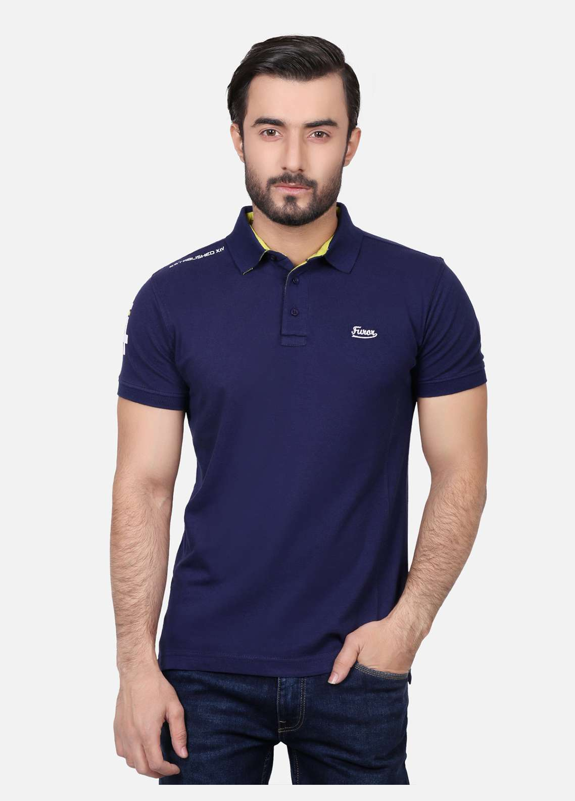 Furor Cotton Polo T-Shirts for Men - Navy Blue FRM18PS 026