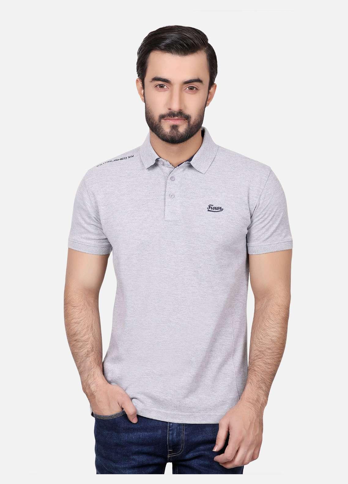 Furor Cotton Polo Men T-Shirts - Grey FRM18PS 027