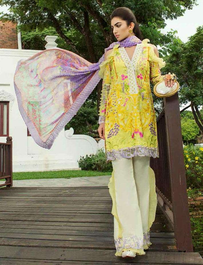 Farah Talib By LSM Embroidered Lawn Unstitched 3 Piece Suit FT17E 6A