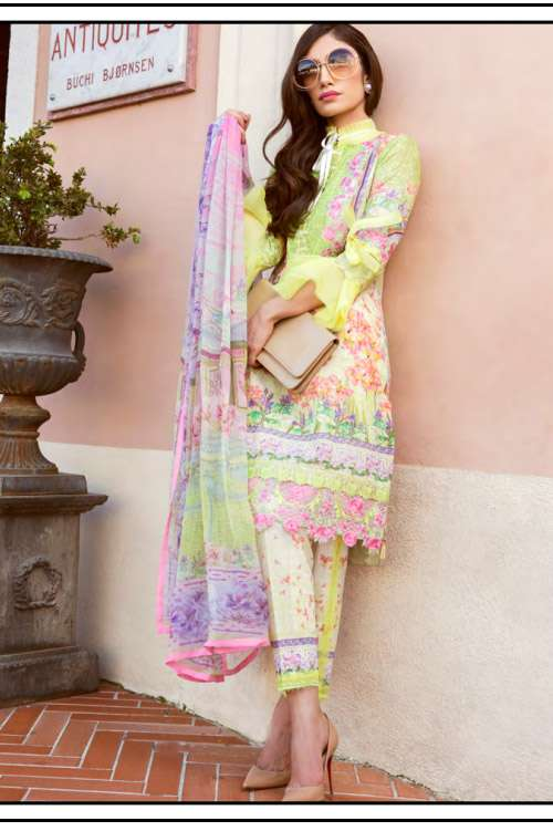 Farah Talib By LSM Embroidered Lawn Unstitched 3 Piece Suit FT17L 10B