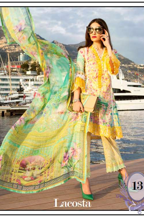 Farah Talib By LSM Embroidered Lawn Unstitched 3 Piece Suit FT17L 13