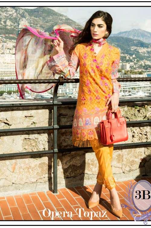 Farah Talib By LSM Embroidered Lawn Unstitched 3 Piece Suit FT17L 3B