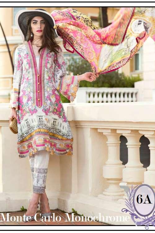 Farah Talib By LSM Embroidered Lawn Unstitched 3 Piece Suit FT17L 6A