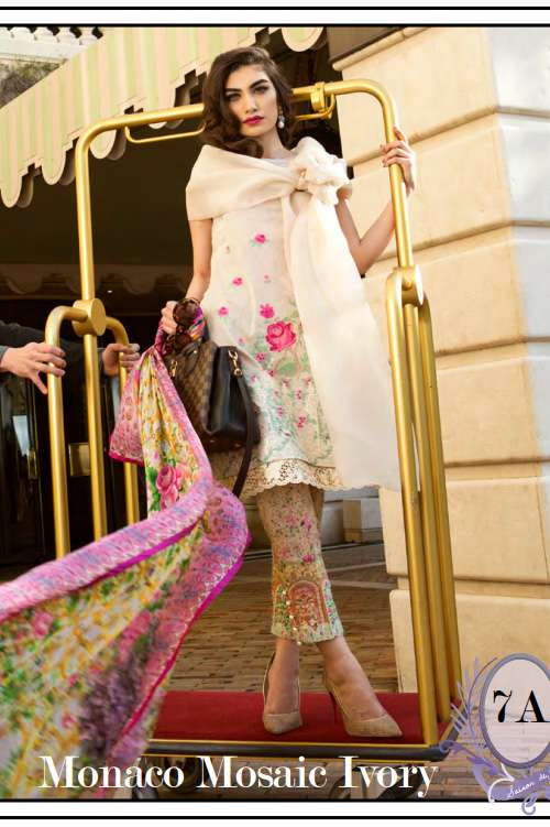 Farah Talib By LSM Embroidered Lawn Unstitched 3 Piece Suit FT17L 7A