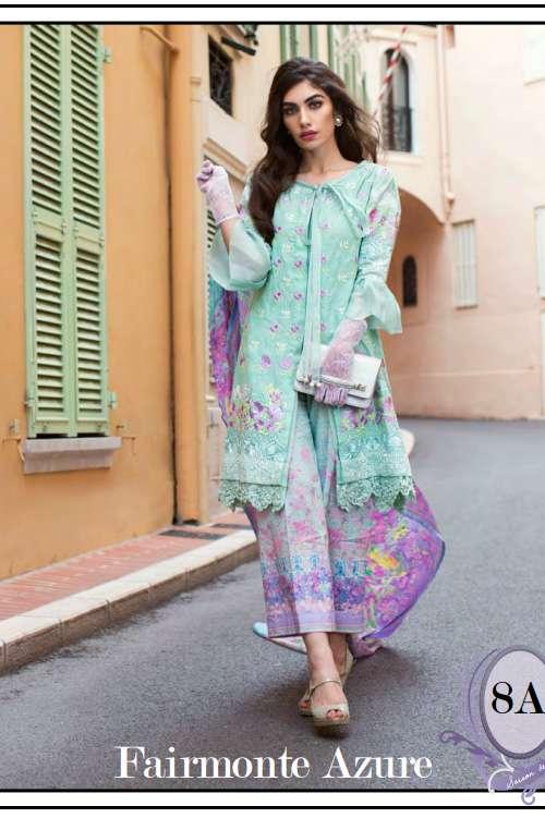 Farah Talib By LSM Embroidered Lawn Unstitched 3 Piece Suit FT17L 8A