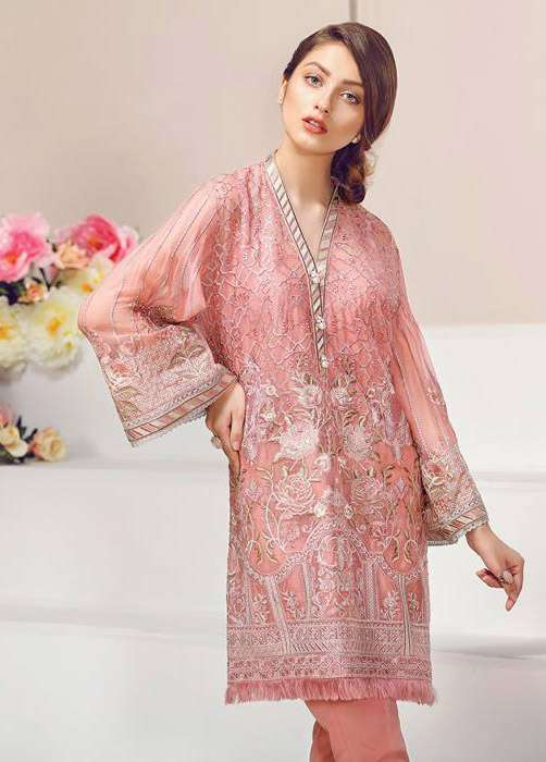 Baroque Embroidered Chiffon Unstitched 3 Piece Suit FU17E2 09