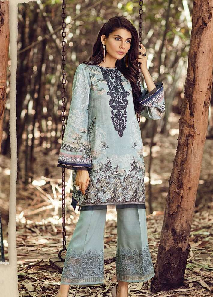 Baroque Embroidered Linen Unstitched 3 Piece Suit FU17W 03