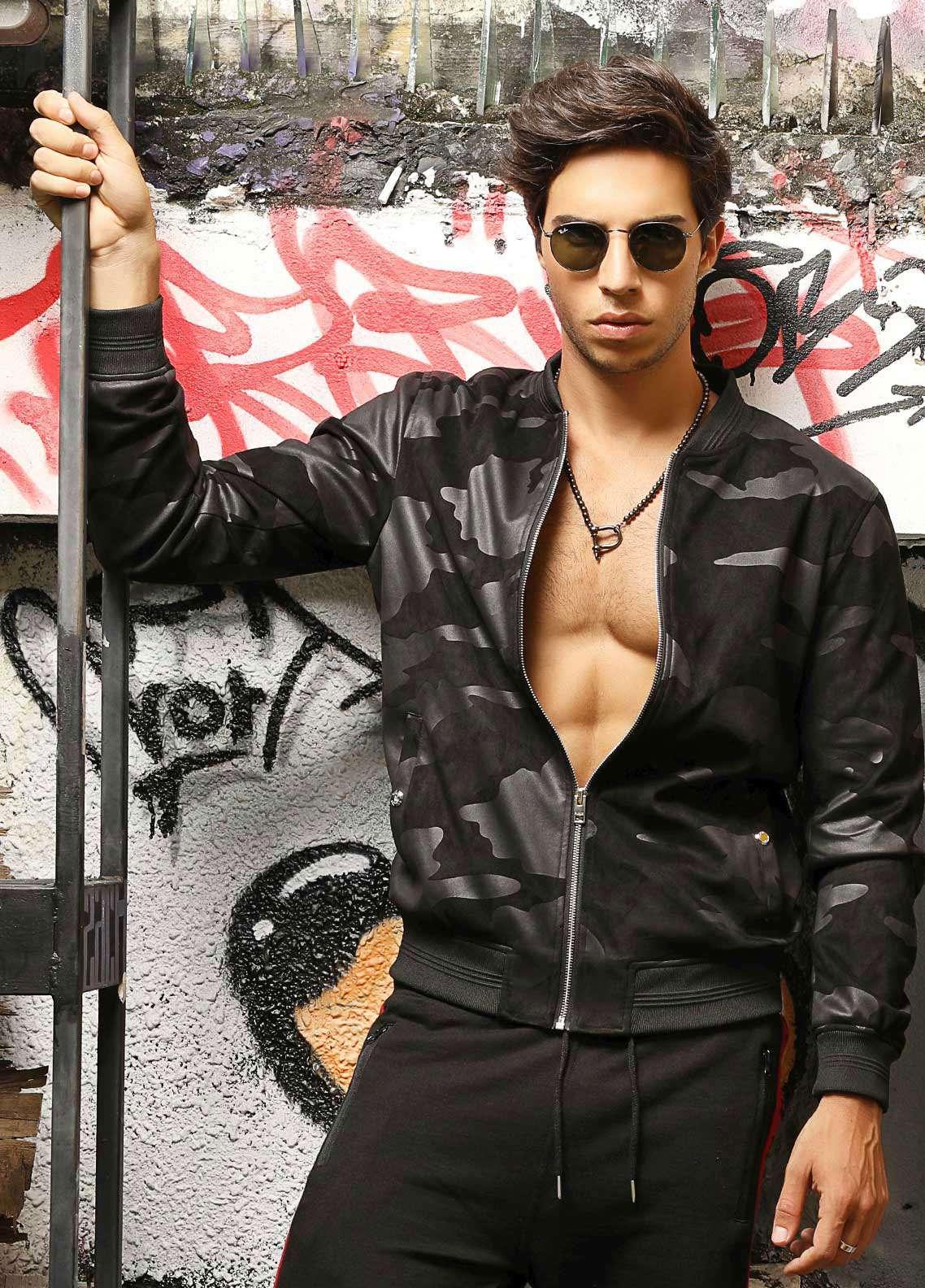 Furor Jersey Casual Jackets for Men - Black 039041