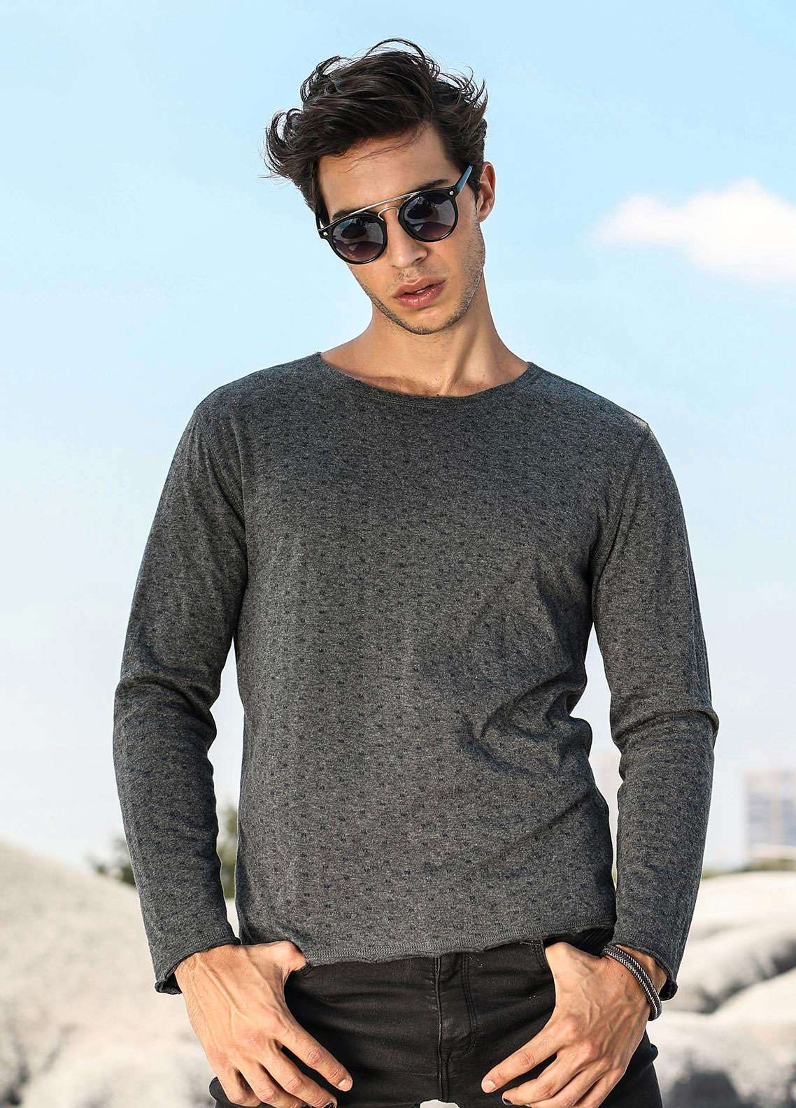 Furor Jersey Casual Men Sweatshirts - Grey 017222