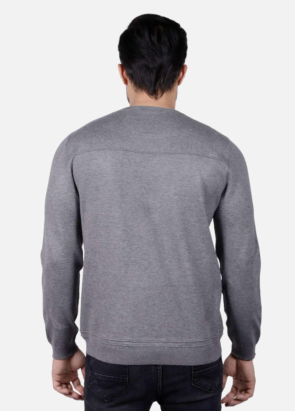 Furor Jersey Casual Sweatshirts for Men - Grey 017223