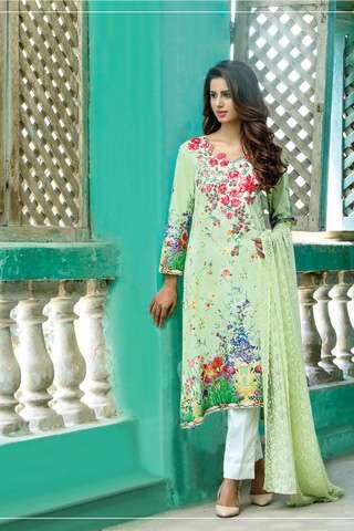 ZS Textile Embroidered Lawn Unstitched 3 Piece Suit FV17L 07