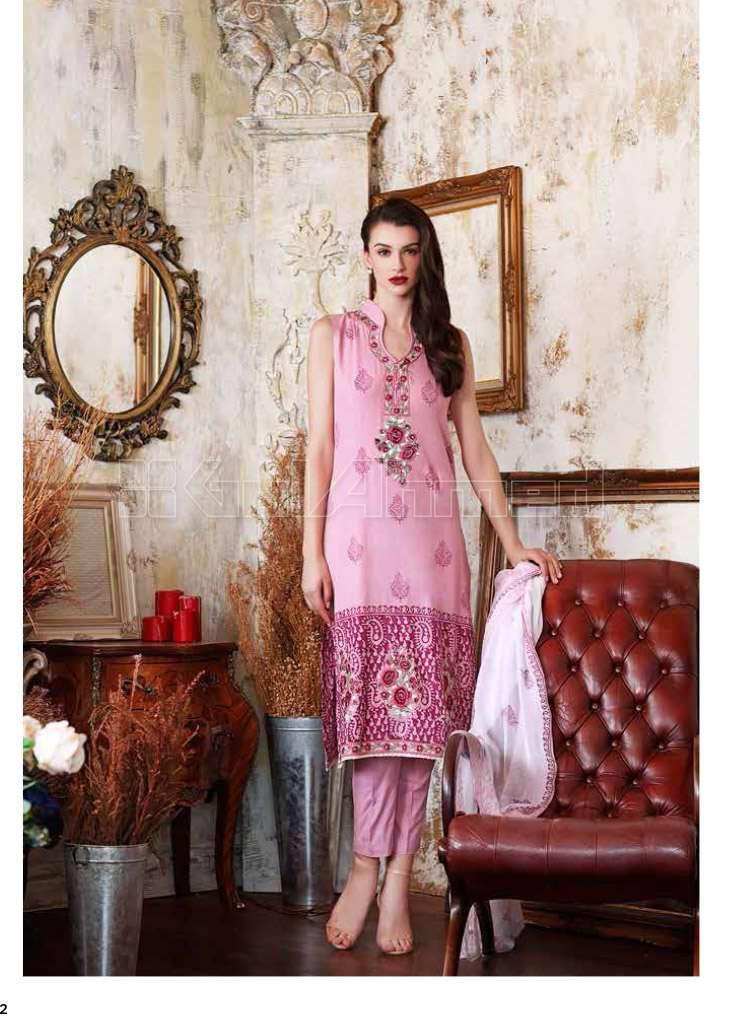 Gul Ahmed Embroidered Lawn Unstitched 3 Piece Suit GA17E2 EA13