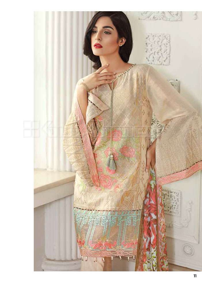 Gul Ahmed Embroidered Lawn Unstitched 3 Piece Suit GA17E2 EA20