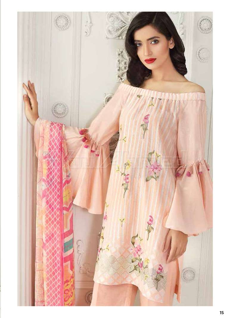 Gul Ahmed Embroidered Lawn Unstitched 3 Piece Suit GA17E2 EA21