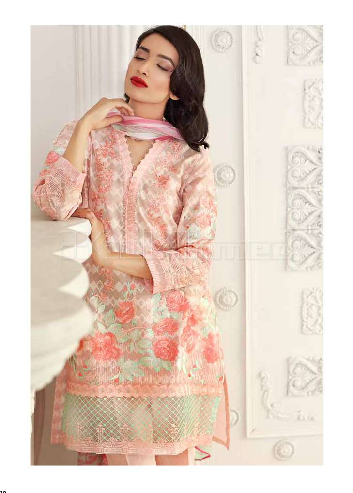 Gul Ahmed Embroidered Lawn Unstitched 3 Piece Suit GA17E2 EA23