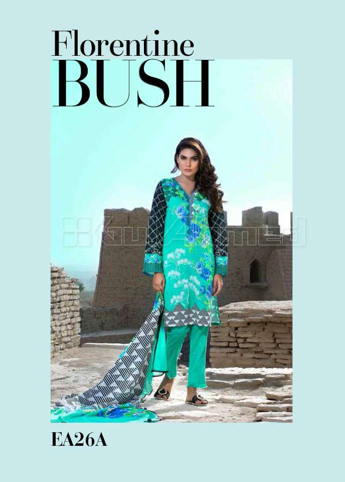 Gul Ahmed Printed Lawn Unstitched 3 Piece Suit GA17E2 EA26A