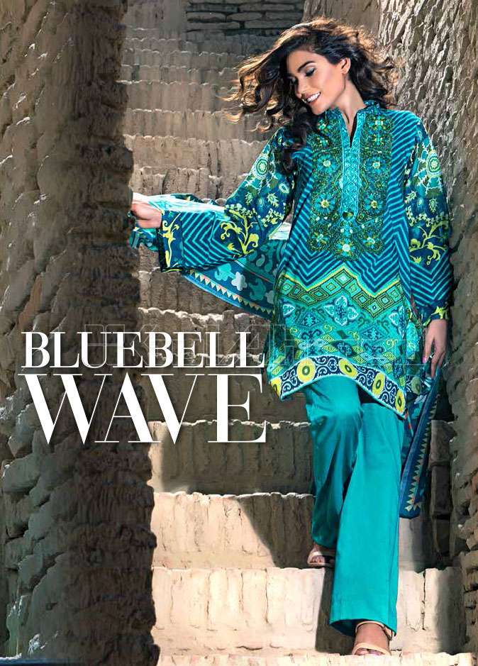Gul Ahmed Embroidered Lawn Unstitched 3 Piece Suit GA17E2 EA28