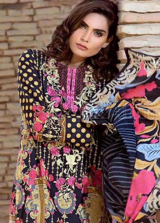 Gul Ahmed Embroidered Lawn Unstitched 3 Piece Suit GA17E2 EA29