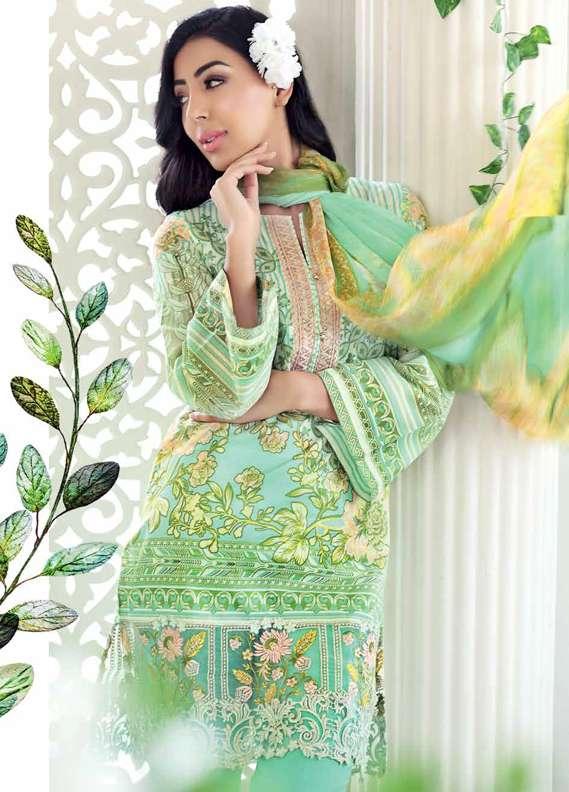 Gul Ahmed Printed Lawn Unstitched 3 Piece Suit GA18L BM-47 - Premium Collection