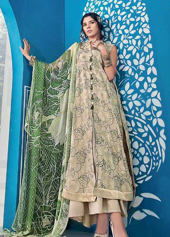 Gul Ahmed Embroidered Lawn Unstitched 3 Piece Suit GA18L BM-68 - Premium Collection