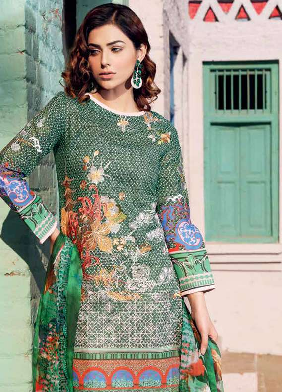 Gul Ahmed Embroidered Lawn Unstitched 3 Piece Suit GA18L CT-234 - Premium Collection