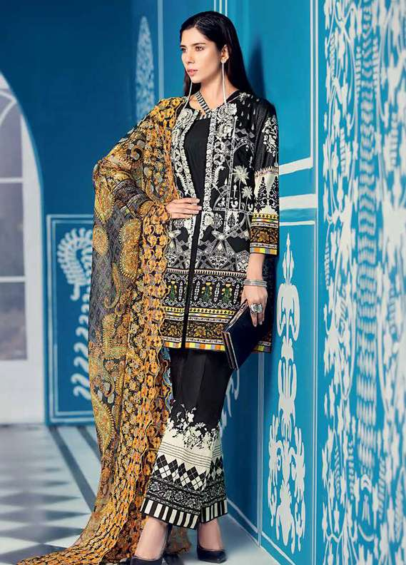 Gul Ahmed Embroidered Lawn Unstitched 3 Piece Suit GA18L CT-239 - Premium Collection