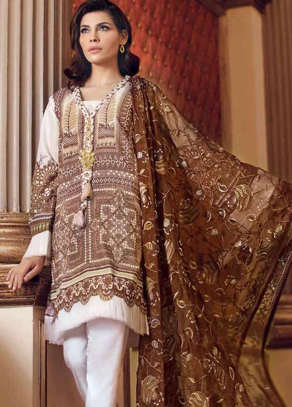 Gul Ahmed Printed Lawn Unstitched 3 Piece Suit GA18L PM-148 - Premium Collection
