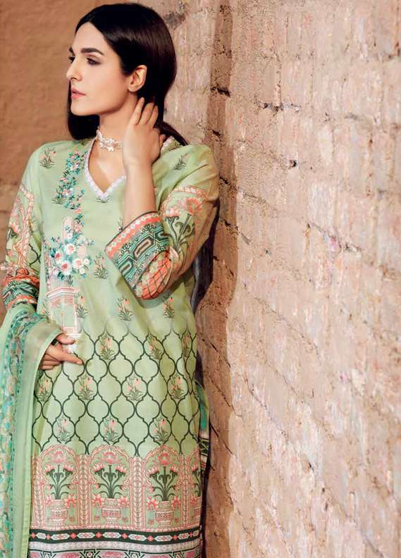 Gul Ahmed Printed Lawn Unstitched 3 Piece Suit GA18L PM-212 - Premium Collection