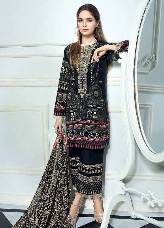 Gul Ahmed Embroidered Lawn Unstitched 3 Piece Suit GA18L PM-226 - Premium Collection