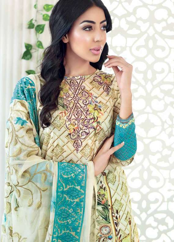 Gul Ahmed Printed Lawn Unstitched 3 Piece Suit GA18L PM-232 - Premium Collection