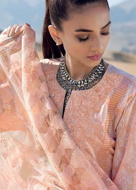 Gul Ahmed Embroidered Lawn Unstitched 3 Piece Suit GA18L PM-239 - Premium Collection