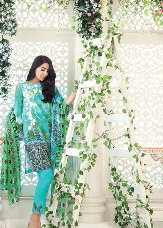 Gul Ahmed Embroidered Lawn Unstitched 3 Piece Suit GA18L SS-172 - Premium Collection