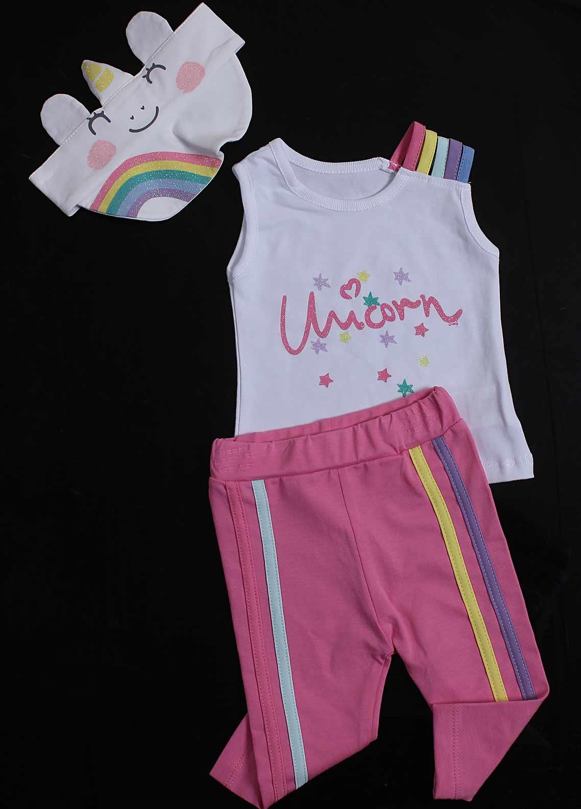 Sanaulla Exclusive Range Cotton Fancy Girls Suit -  5436 Pink