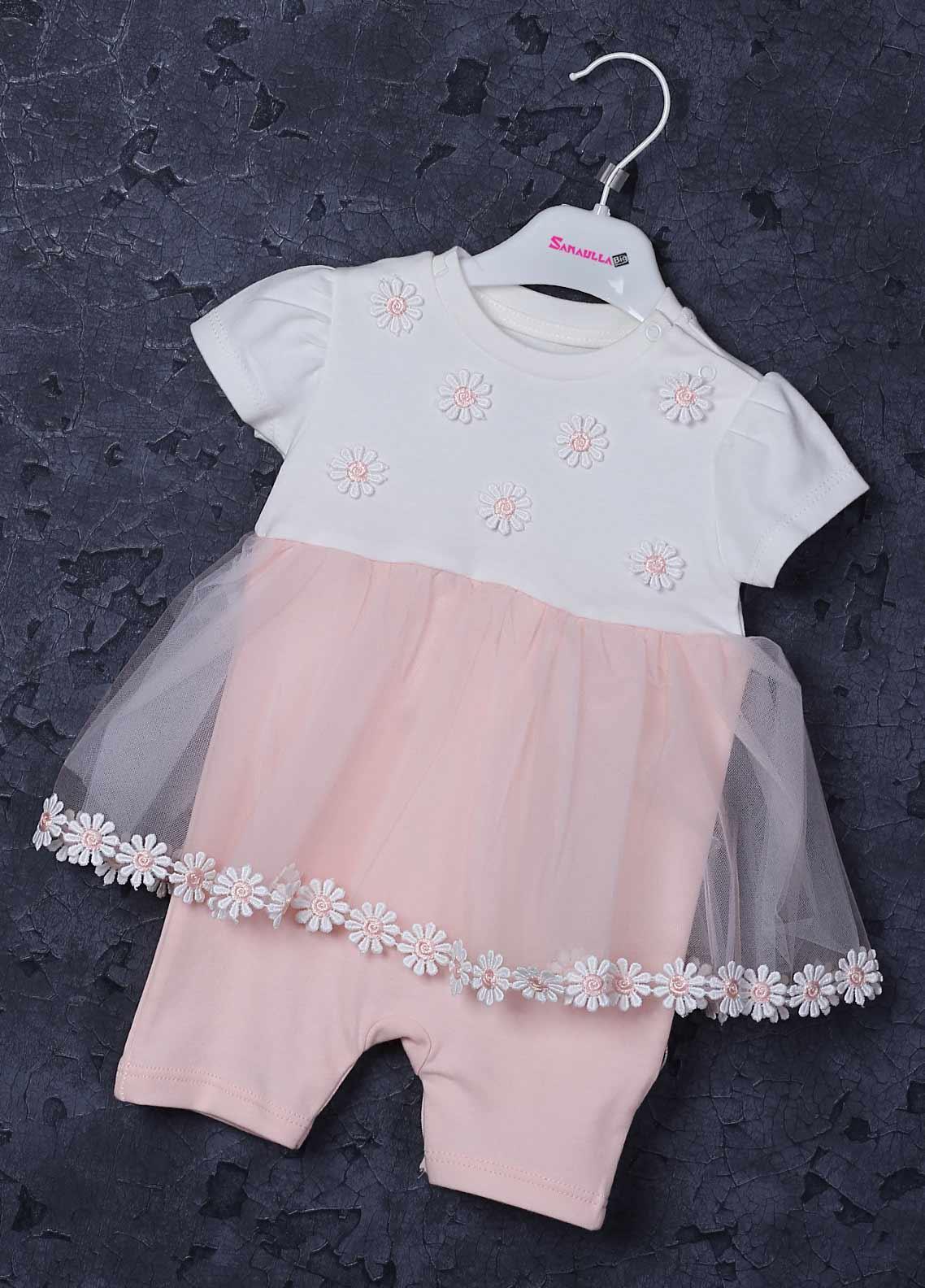 Sanaulla Exclusive Range Cotton Fancy Frocks for Girls -  2232 Pink