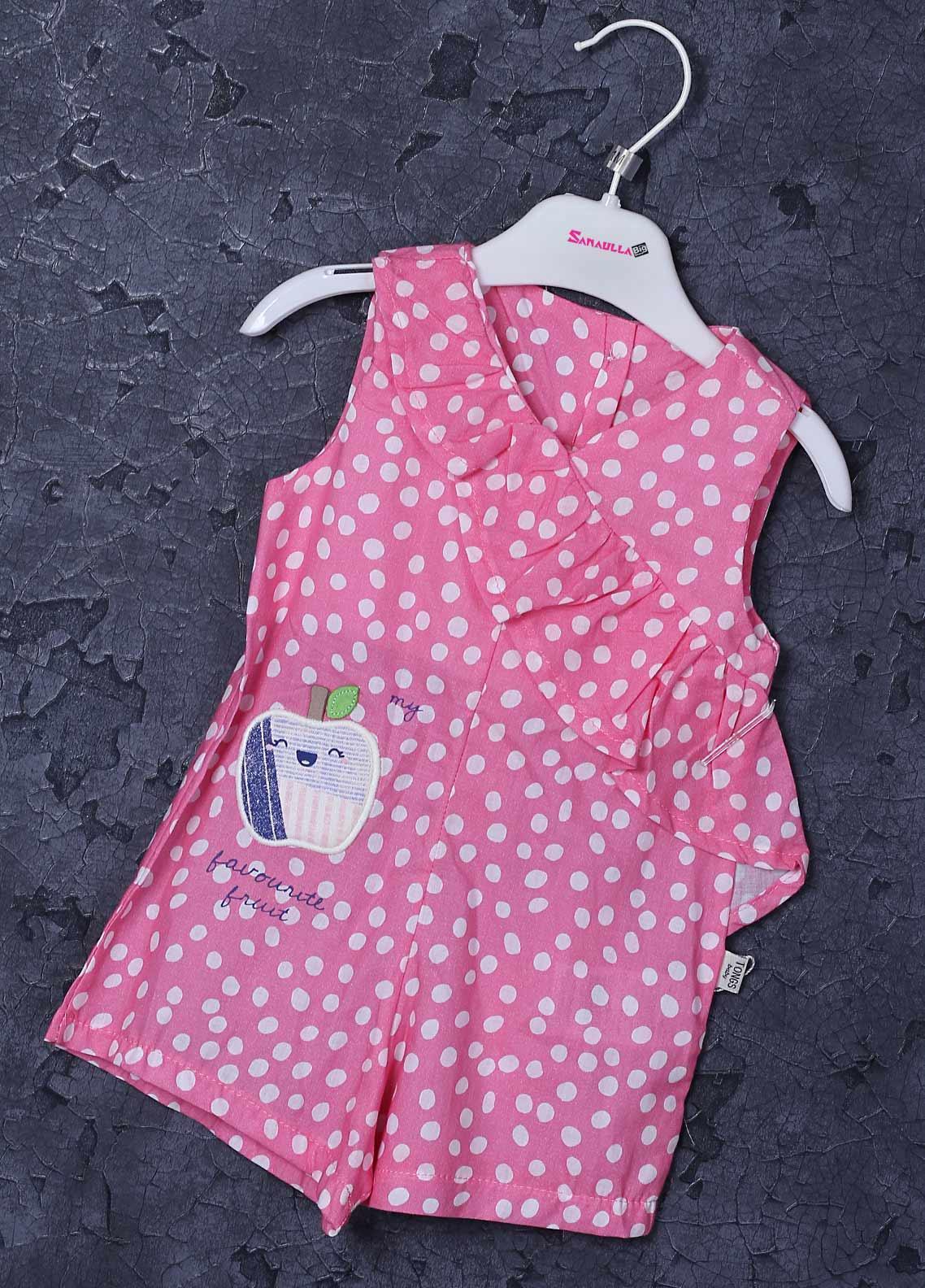 Sanaulla Exclusive Range Cotton Fancy Girls Frocks -  2534 Dark Pink