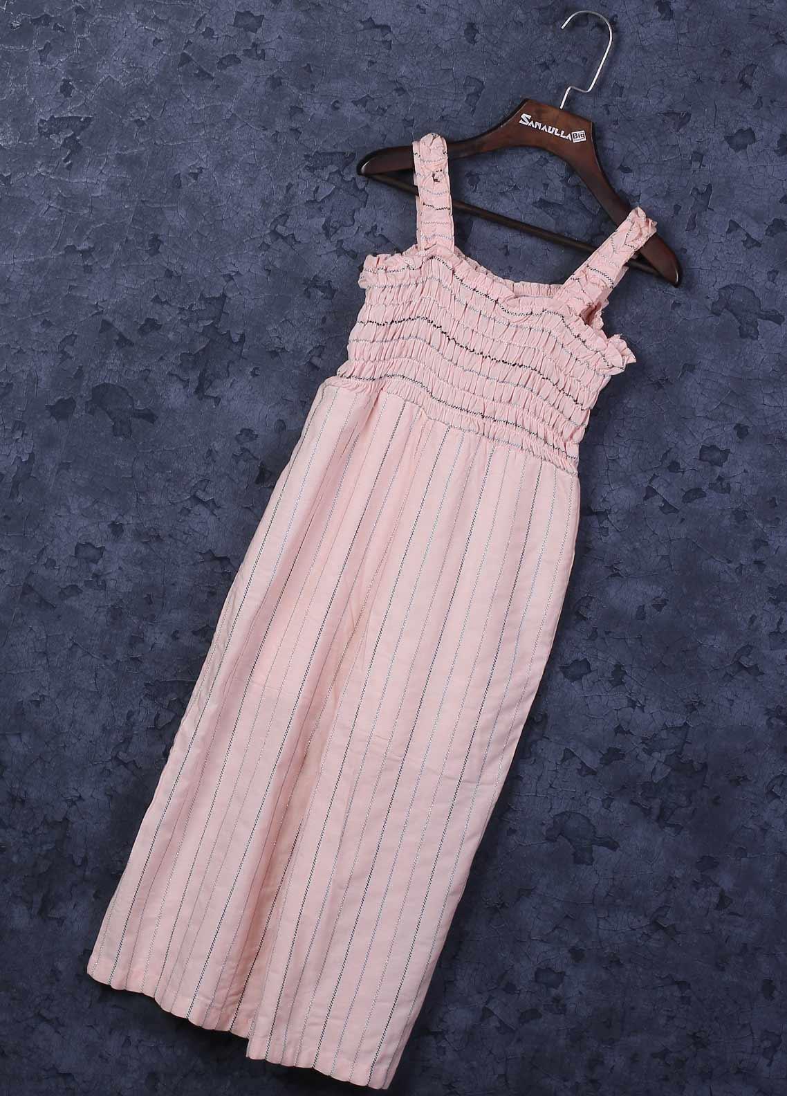 Sanaulla Exclusive Range Mix Cotton Fancy Frocks for Girls -  6050 Pink