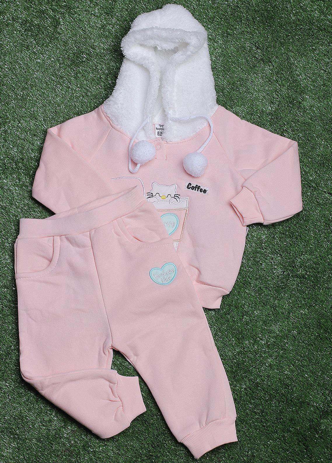 Sanaulla Exclusive Range Cotton Fancy Girls 2 Piece Suit -  287K609 Pink