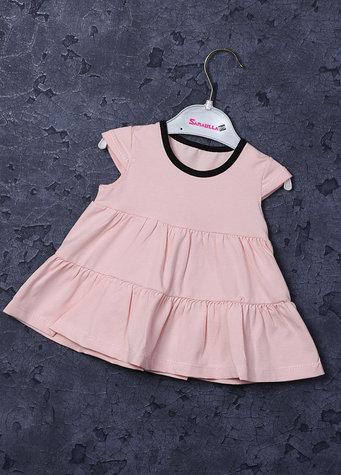 Sanaulla Exclusive Range Cotton Fancy Frocks for Girls -  22553 Pink