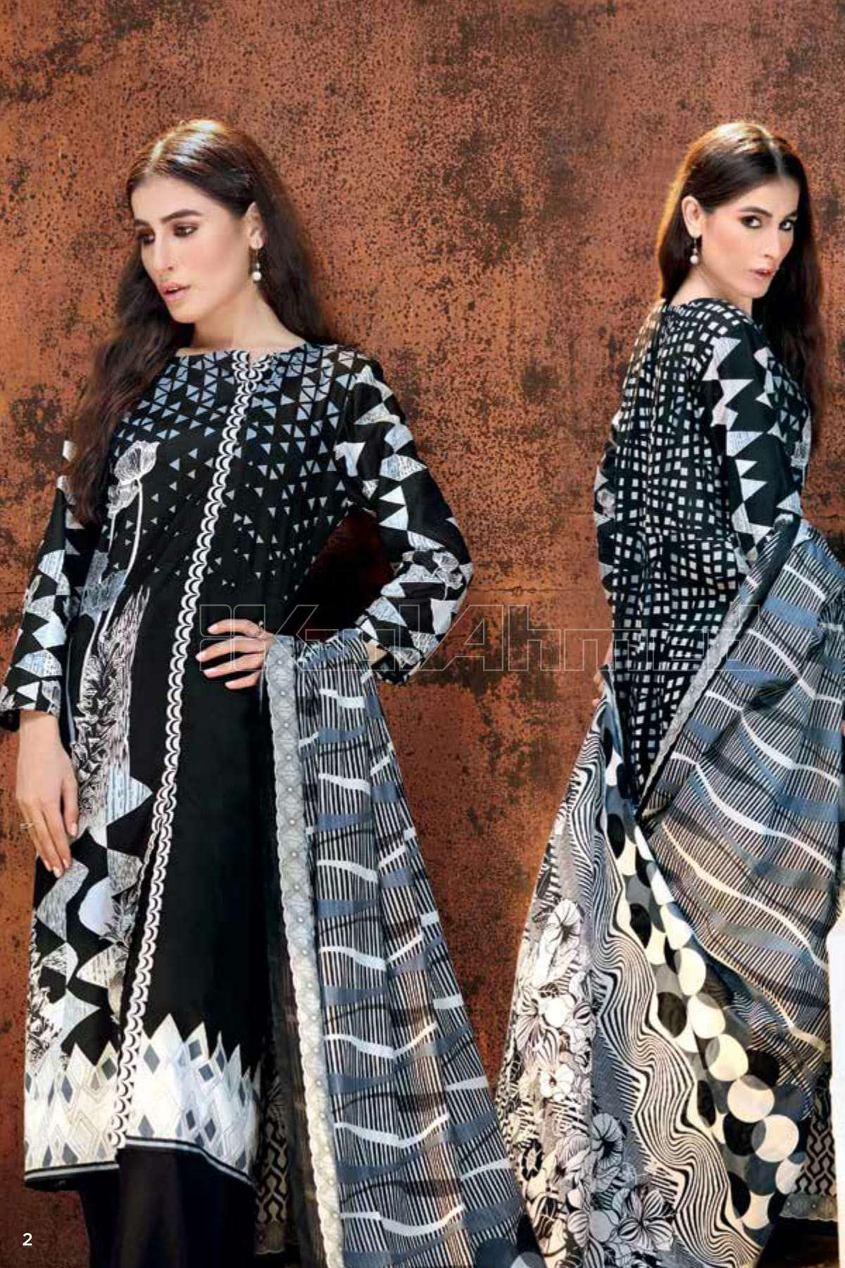 Gul Ahmed Printed Lawn Unstitched 2 Piece Suit GL17B 02