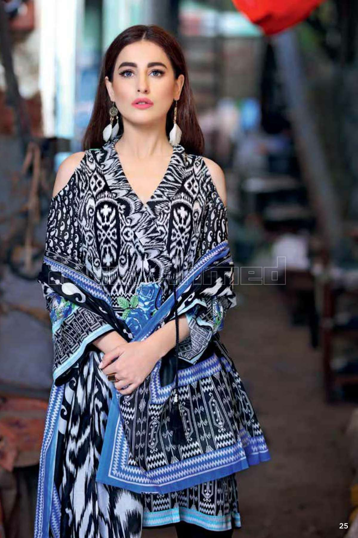 Gul Ahmed Printed Lawn Unstitched 3 Piece Suit GL17B 14