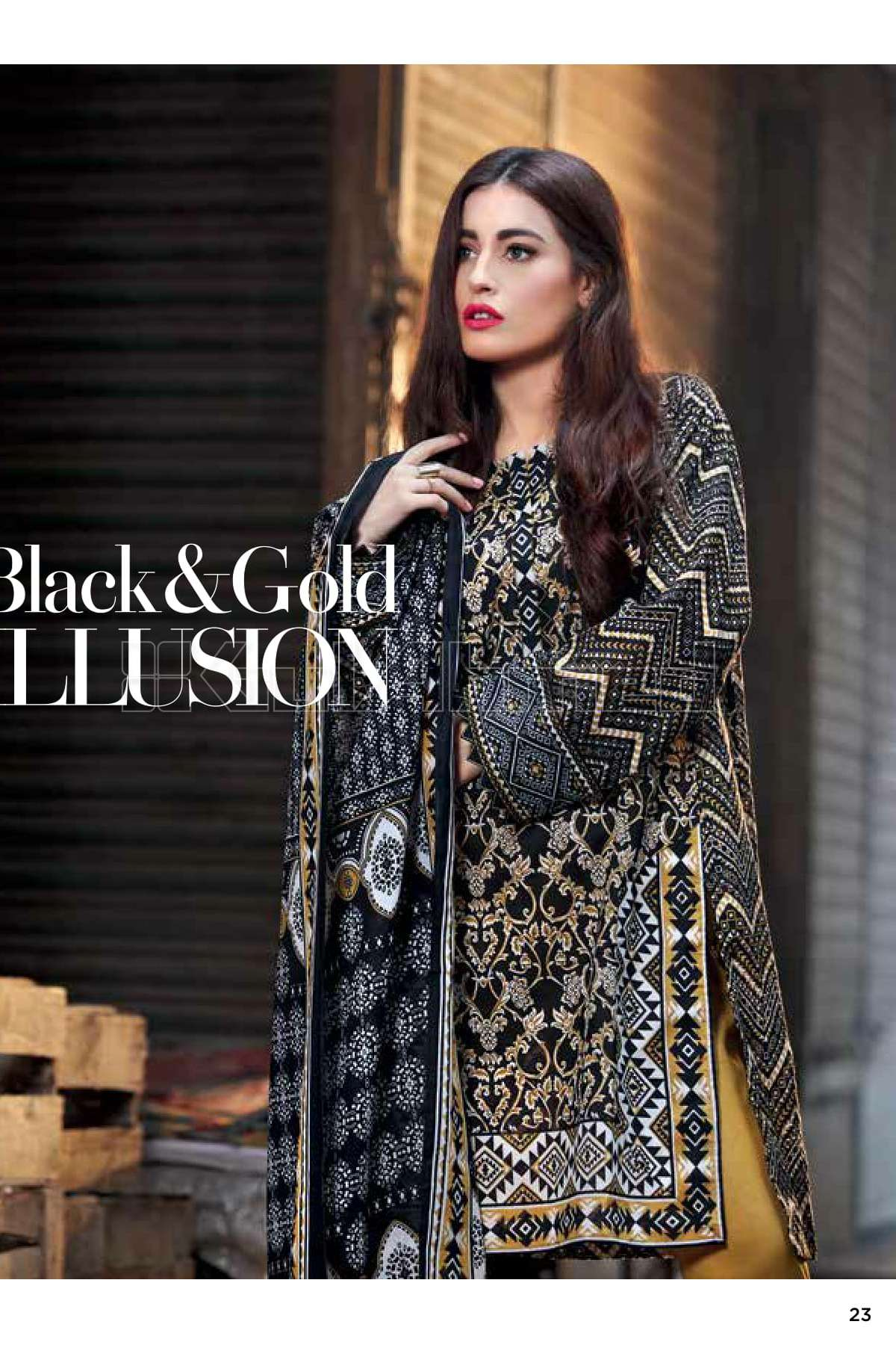 Gul Ahmed Printed Lawn Unstitched 3 Piece Suit GL17B 15