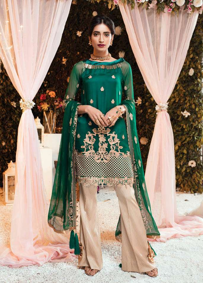 Gulaal Embroidered Chiffon Unstitched 3 Piece Suit GL17C2 01