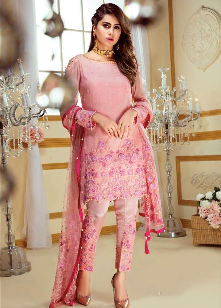 Gulaal Embroidered Chiffon Unstitched 3 Piece Suit GL17C 01