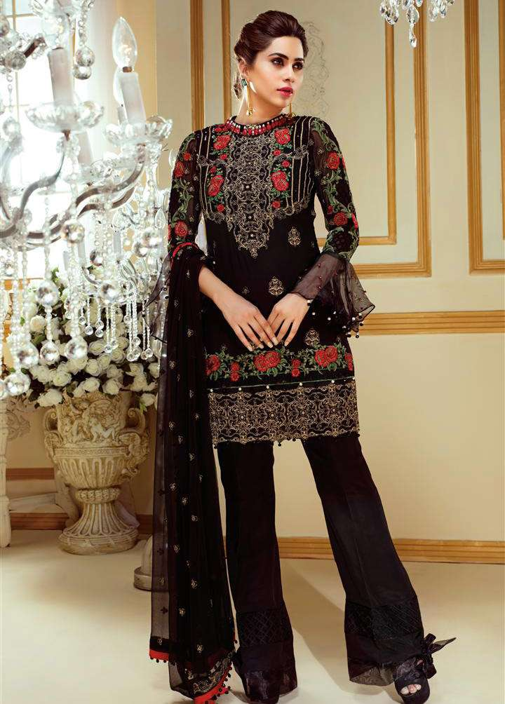 Gulaal Embroidered Chiffon Unstitched 3 Piece Suit GL17C 05
