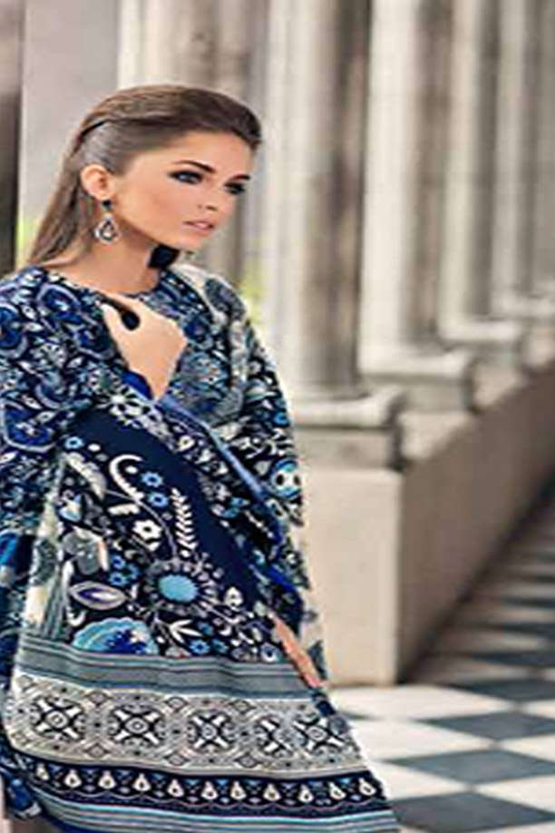 Gul Ahmed Embroidered Khaddar Unstitched 3 Piece Suit GL17W2 HK12