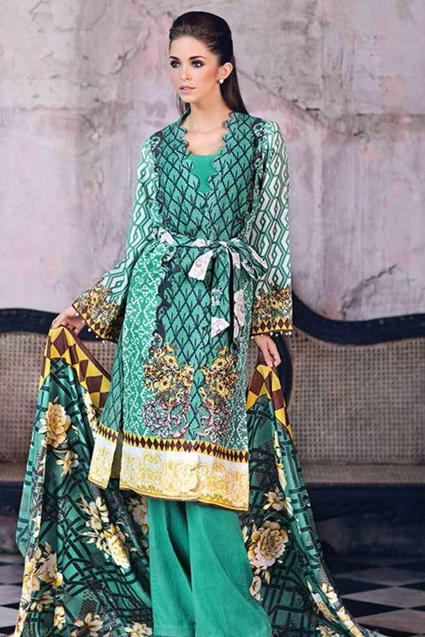 Gul Ahmed Printed Karandi Unstitched 3 Piece Suit GL17W2 HKV05