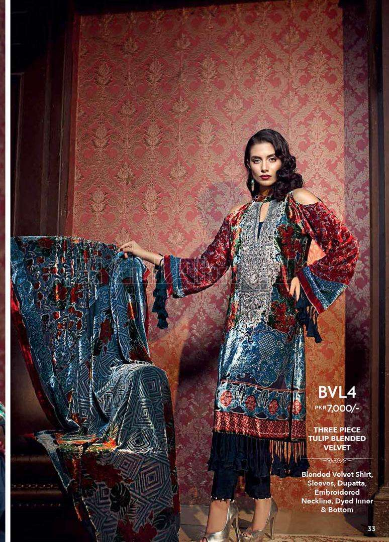 Gul Ahmed Embroidered Linen Unstitched 3 Piece Suit GL17W BVL4