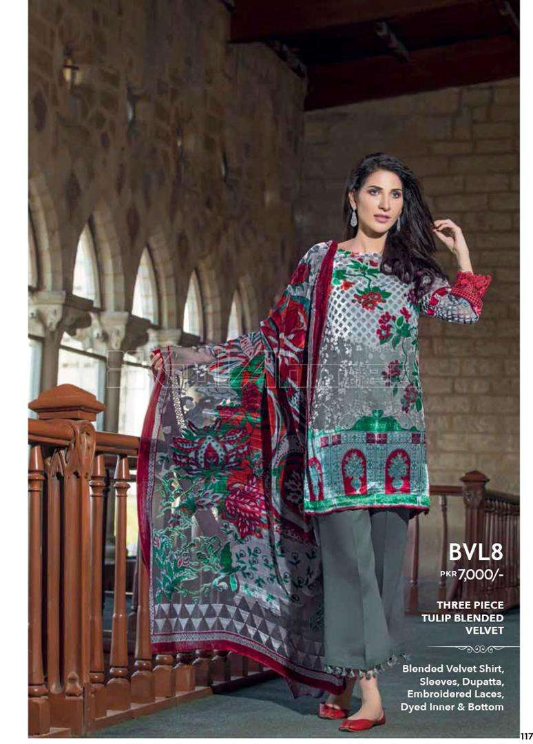Gul Ahmed Embroidered Linen Unstitched 3 Piece Suit GL17W BVL8