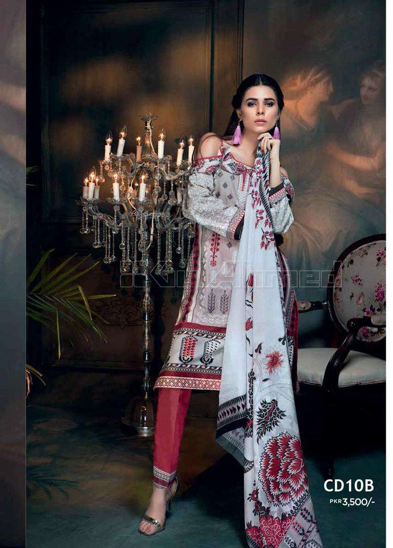 Gul Ahmed Embroidered Corduroy Unstitched 3 Piece Suit GL17W CD10B